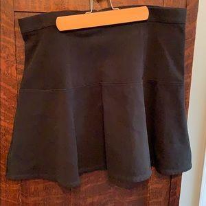 Black bottom flare skirt